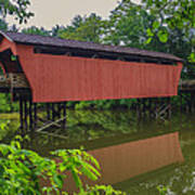 Shaeffer Or Campbell Covered Bridge Poster by Jack R Perry