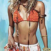 Shakira Artwork Poster by Sheraz A