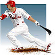 Shane Victorino Poster by Scott Weigner