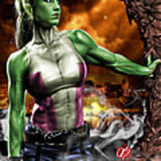 She-hulk Poster by Pete Tapang