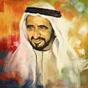 Sheikh Rashid Bin Saeed Al Maktoum Poster by Corporate Art Task Force