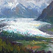 Shifting Light - Matanuska Glacier Poster by Talya Johnson