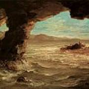 Shipwreck On The Coast Poster by Eugene Delacroix