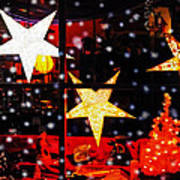 Shop Window On Christmas Eve Poster by Terril Heilman