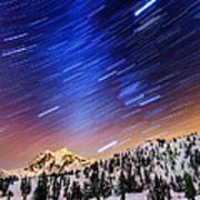 Shuksan Star Trails Poster by Alexis Birkill