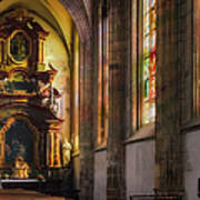Side Chapel Of St Barbara Poster by Joan Carroll
