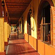 Sidewalk In Tlaquepaque District Of Guadalajara Poster by Elena Elisseeva