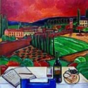 Siena Hillside Poster by Patti Schermerhorn
