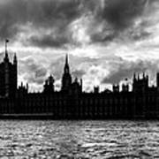 Silhouette Of  Palace Of Westminster And The Big Ben Poster by Semmick Photo