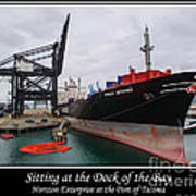 Sitting At The Dock Of The Bay Poster by Tikvah's Hope
