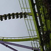 Six Flags Great Adventure - Medusa Roller Coaster - 12122 Poster by DC Photographer