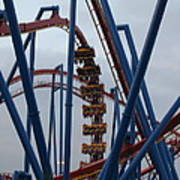 Six Flags Great Adventure - Medusa Roller Coaster - 12125 Poster by DC Photographer