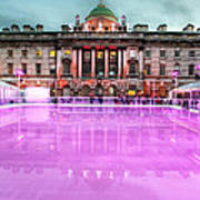 Skating At Somerset House Poster by Jasna Buncic