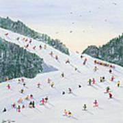 Ski Vening Poster by Judy Joel