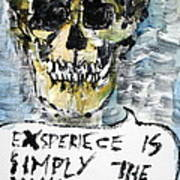 Skull Quoting Oscar Wilde.4 Poster by Fabrizio Cassetta