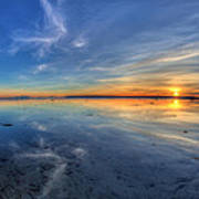 Sky Reflection In Boundary Bay Poster by Pierre Leclerc Photography