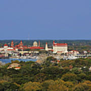 Skyline Of St Augustine Florida Poster by Christine Till