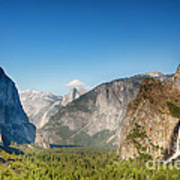 Small Clouds Over The Half Dome Poster by Jane Rix