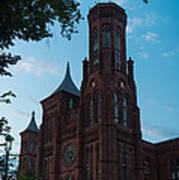 Smithsonian Castle Dawn Poster by Steve Gadomski