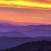 Smoky Sunset Panorama Poster by Andrew Soundarajan