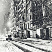Snow - New York City - Winter Night Poster by Vivienne Gucwa