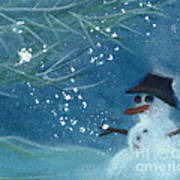 Snowman By Jrr Poster by First Star Art