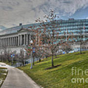 Soldier Field Renovated Poster by David Bearden