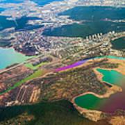 Somewhere Over Latvia. Rainbow Earth Poster by Jenny Rainbow