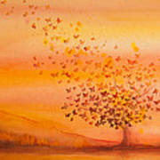 Soul Freedom Watercolor Painting Poster by Michelle Wiarda