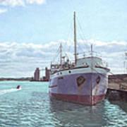 Southampton Docks Ss Shieldhall Ship Poster by Martin Davey