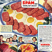Spam 1960s Usa Hormel Meat Tinned Poster by The Advertising Archives
