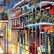 Sparkling French Quarter Poster by Diane Millsap