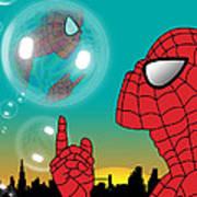 Spiderman 4 Poster by Mark Ashkenazi