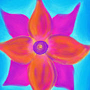 Spiral Flower Poster by Daina White