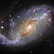 Spiral Galaxy Ngc 1672 Poster by The  Vault - Jennifer Rondinelli Reilly