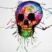 Splatter Skull Poster by Christy Bruna