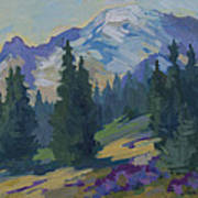 Spring At Mount Rainier Poster by Diane McClary