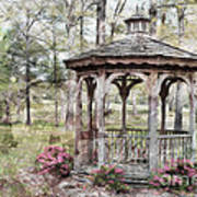 Spring Gazebo Painteffect Poster by Debbie Portwood