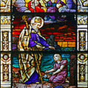 St Augustine By The Sea Shore Talking To A Child Poster by Christine Till