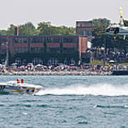 St. Clair Michigan Usa Power Boat Races-4 Poster by Paul Cannon