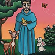 St. Francis Animal Saint Poster by Victoria De Almeida