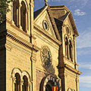 St. Francis Cathedral - Santa Fe Poster by Mike McGlothlen