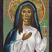 St Kateri Tekakwitha Poster by Jennifer Richard-Morrow