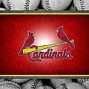 St Louis Cardinals Poster by Joe Hamilton