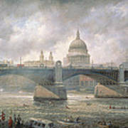 St. Paul's Cathedral From The Southwark Bank Poster by Richard Willis