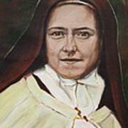 St. Therese Of Lisieux Poster by Sheila Diemert
