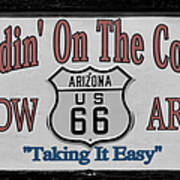Standin' On A Corner In Winslow Arizona Poster by Christine Till