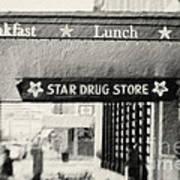 Star Drug Store Marquee Poster by Scott Pellegrin