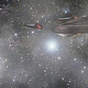 Star Trek - Approaching The Neutral Zone Poster by Jason Politte