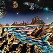 Star Trek - Orbiting Planet Poster by Michael Rucker